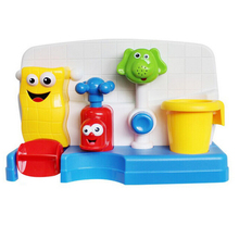 High Qualtiy Baby Bath Toys Play Taps/Buttressed Automatic Spout Play Taps Spray Shower Baby Gifts Play Water