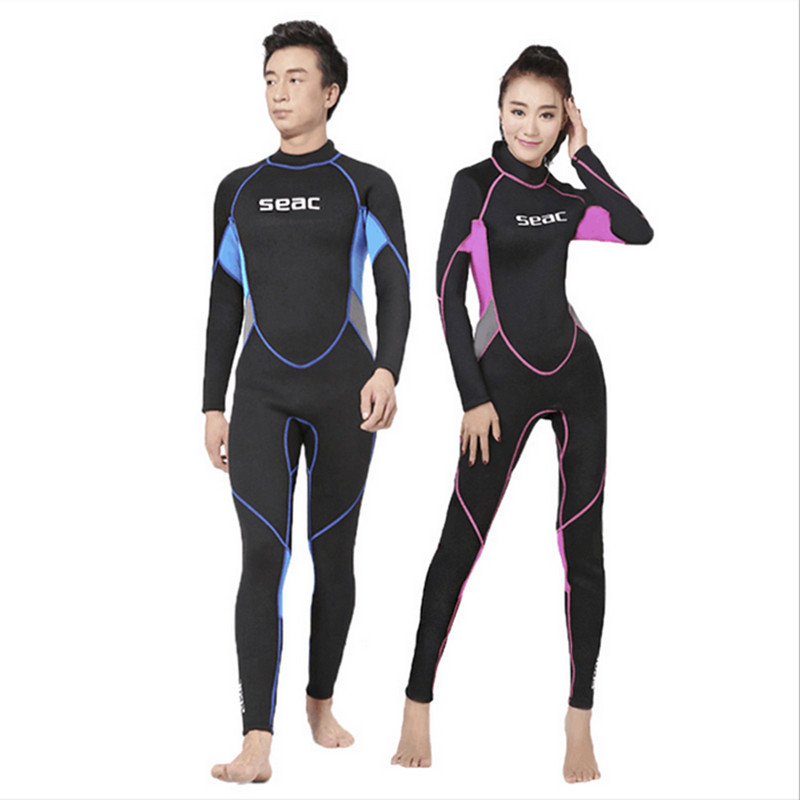 Women Men Neoprene Scuba dive Wet suit Lovers Wetsuit Equipment Snorkeling Jumpsuit One piece Triathlon Spearfishing Surf