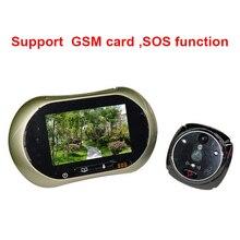 GSM SOS function 3.5″ LCD Door Peephole Camera Viewer Photo and Video Recording Door Camera viewer peephole video doorbell