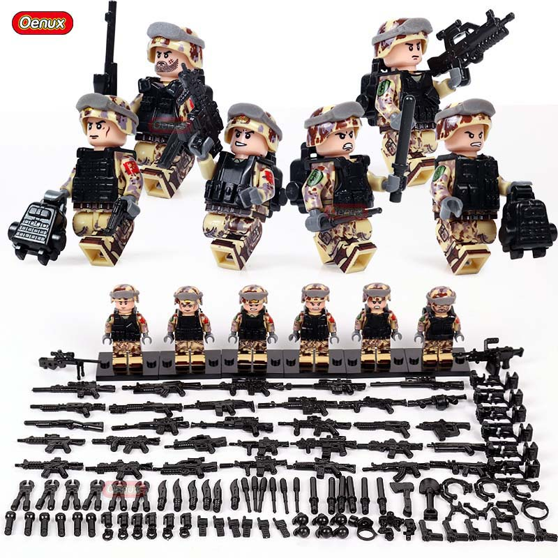 Toys & Hobbies Beautiful 6pcs Special Forces Military Army Navy Seals Team Marines Swat Soldiers Ww2 Building Blocks Figures Educational Toy Boy Children