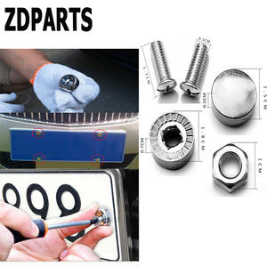 ZDPARTS Car Styling License Plate Nuts Bolts Screws For Skoda Octavia A5 A7 2 Rapid