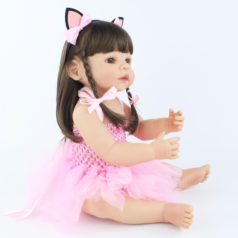 55 cm nuevo juguete de silicona Reborn Baby Doll para niñas recién nacidas princesas bebés vivos Bebe clásico Boneca bañarse ducha juguete-in Muñecas from Juguetes y pasatiempos    3