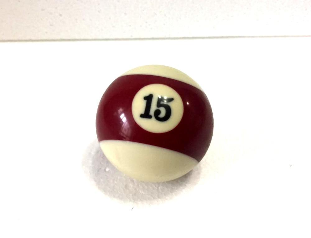 Free Shipping 1pcs NO.15 Pool Snooker Billiard Table Cue NO.15 Ball 2-1/4