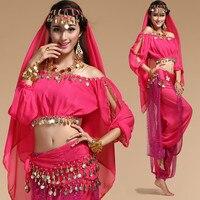 6 צבעים שלב שלב תחפושת ריקודי בטן בגדי ריקודי בטן ביצועים מזרחי & תלבש ריקוד לנשים