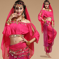 6 Colors Stage Performance Oriental Belly Dancing Clothes Bellydance Costume Stage Dance Wear For Women