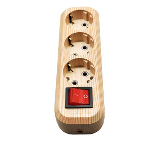 Image 4 - Original Wood Color Power Strip Socket with switch  Fast Charging Standard Extension Socket Plug Power Strip Home Electronics