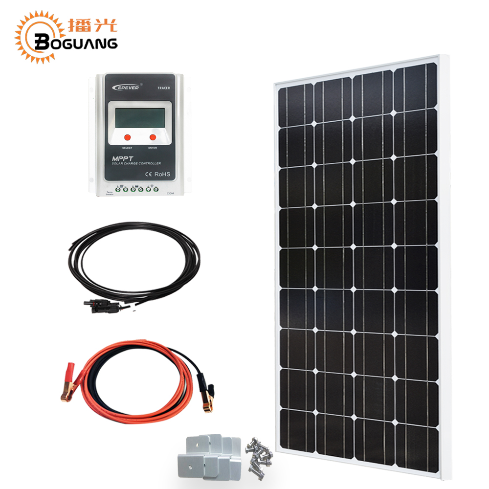 Able 200w Etfe Solar Panel Kits For Caravan Rv Boat 12v Battery Charge+1000w Inverter Alternative & Solar Energy