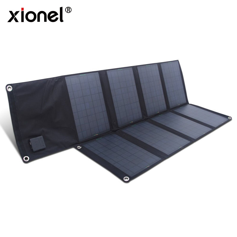 Xionel Fold Solar Panel 18V 80W Solar Panel Charger for iPhone Sumsung HTC Phones Lenovo HP Dell Acer Laptops and so on