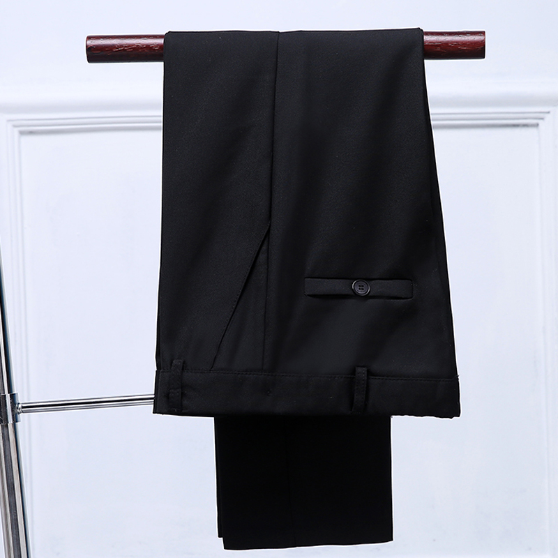 Mikarause boys pants black straight suit trousers kids pants teenage school student performance full length boy pants kids cloth 2