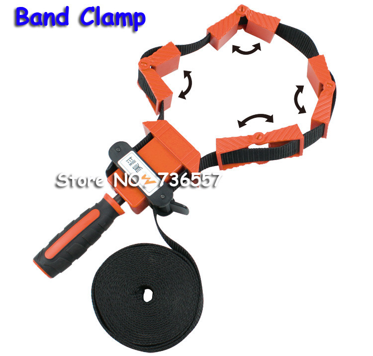 clamps for woodworking Multifunction belt Quick Adjustable Band Clamp Polygonal clip 90 Degrees Right Angle Corner Photo Frame ninth world new single handlealuminum 90 degree right angle clamp angle clamp woodworking frame clip right angle folder tool