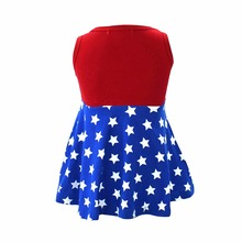 4th of July Super Girl Princess Dress Costume