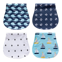 4PCS Lot Nursing Burp Cotton Baby Apron For Feeding Bandana Scarf Infant Saliva Towel Baby Bibs