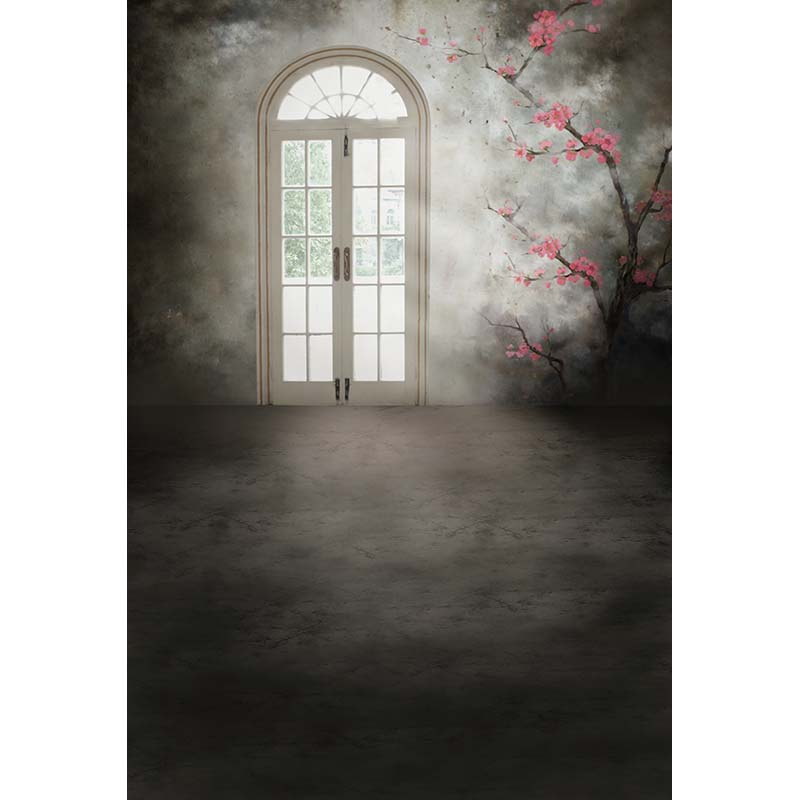 Seamless Vinyl Photography Backdrop French Window Empty Room Computer Printed Children Backgrounds for Photo Studio CM-1667 seamless vinyl photography backdrop path with sakura flower tree computer printed nature backgrounds for photo studio f 3167