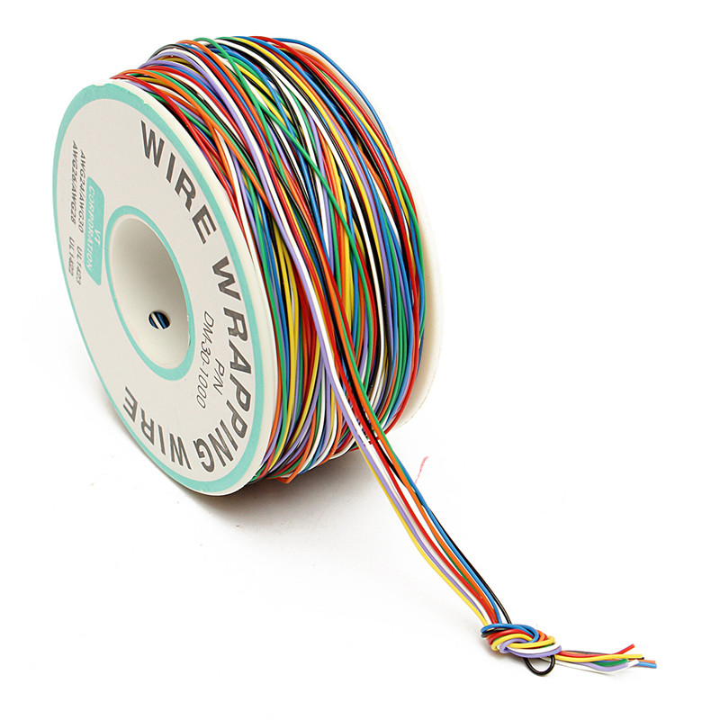P/N B 30 1000 200M 30 AWG 8 Wire Colored Insulation Test Wrapping ...