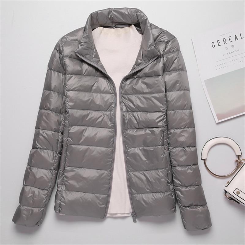 Sanishroly 2018 New Autumn Winter Women Thin White Duck Down Jacket Parka Female Ultra Light Down Coat Short Tops Plus Size S268 4