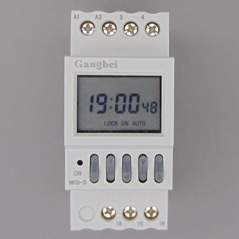 NKG3 NKG-3 LCD Mikrocomputer astro Zeit Schalter basierend auf latitude DIN-SCHIENE DIGITAL timer programmierbare relais