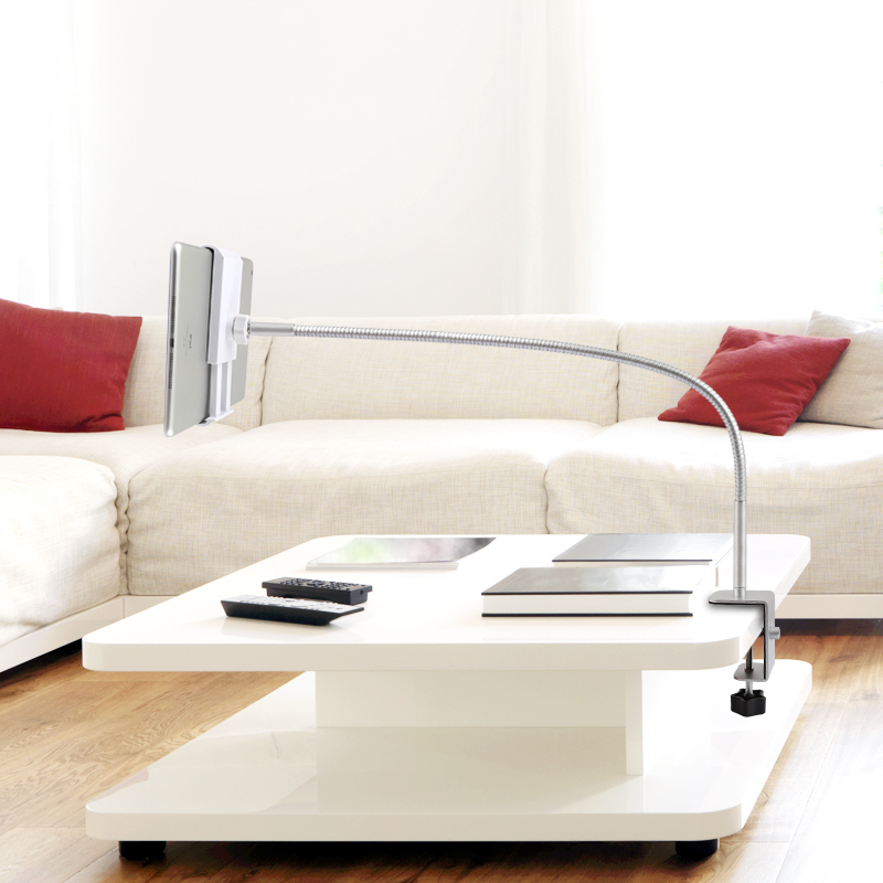 Universal Fashion Flexible Gooseneck Long Arm Tablet Stand 360-degree Rotating Clip-on Mount for Ipad Mini, Ipad Air, Samsung