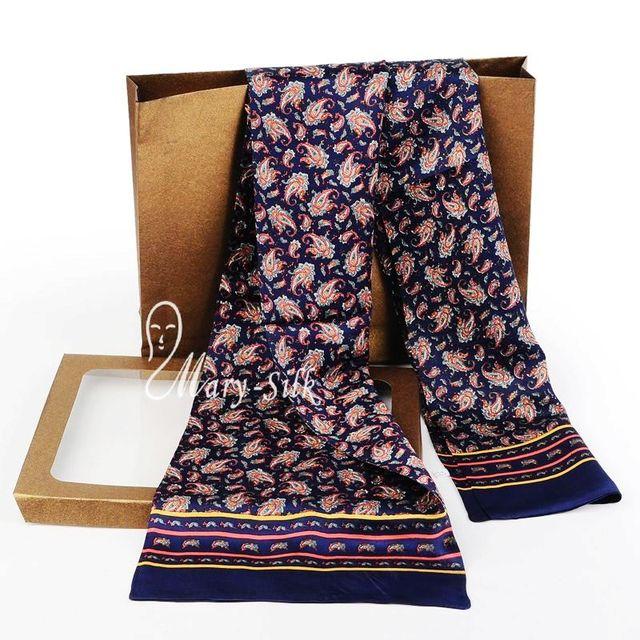 Мода Мужская 100% Шелк Длинный Шарф Шейный Платок Scarives Слой --- Для Весны Осень Зима