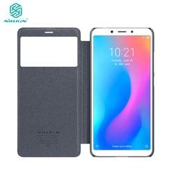 Xiaomi Redmi 6A Case Redmi 6A Pro Flip Case Nillkin Sparkle Series Hard Plastic PU Cover