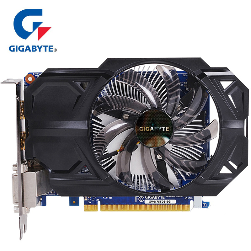 GIGABYTE Graphics Card GTX 750 Ti with 2GB GDDR5 128 Bit NVIDIA GeForce gtx 750 ti GPU Video Card for PC Hdmi Dvi Used VGA Cards image