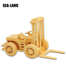 3D Children Puzzles Carriage Hoist Engineering Series Quality Wooden Jigsaw Puzzles For Kids Adult Decor Hobby Gift Dropshipping паззл vintage puzzles