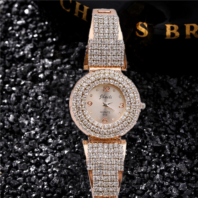 2017New Fashion Women Watch Bangle Watche Gold Women Dress Saats  Crystal Diamond Dial Alloy Band Femme Hodinky Relogio Feminino rga r 981 sports watche red