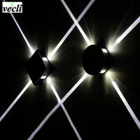 Indoor 6W 12W LED Wall Lamp AC110V 220V Acrylic Material Aluminum Sconce Bedroom Decorate Wall Light