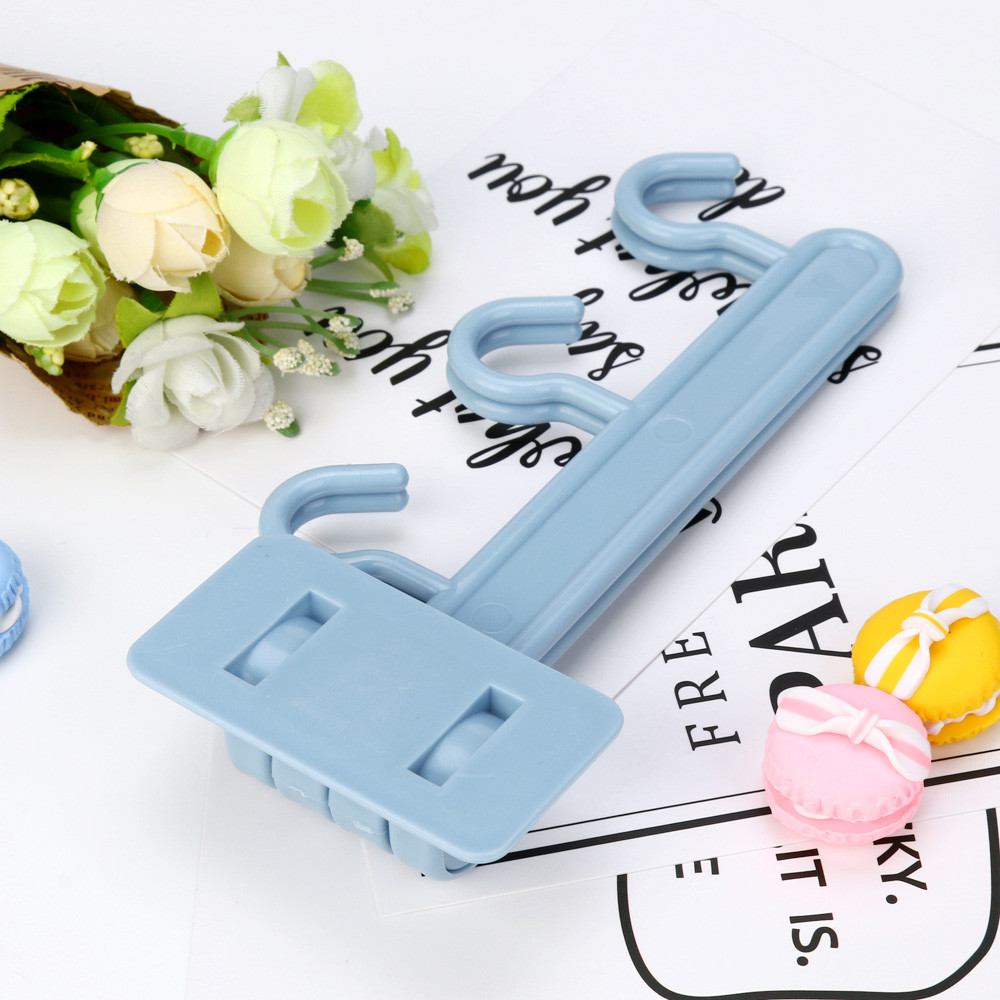 3 color Home Kitchen Plastic Rotating 6 Hooking Clothes Towel Holder ...