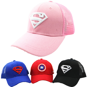 3-10 Yrs Children Hats Superman Baseball Cap Captain America Baby Hip Hop Hats Summer Fashion Boy Snapback Boys Hip Hop Kids Hat(China)