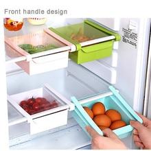 Кухня Холодильник Морозильник Слайд ящика Тип экономии пространства хранения Органайзер стеллаж полка держатель для хранения коробки ящики пластиковые коробки