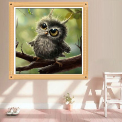 Painting Cross Stitch 5D Diamond Embroidery Owl Mosaic Resin DIY Craft Wallpaper