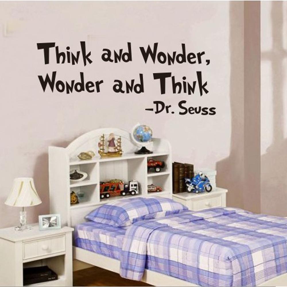 Kreative Denken Wohnzimmer Hintergrund Wand Stick Englisch Text Sprche Geschnitzte Knnen Entfernen PostChina