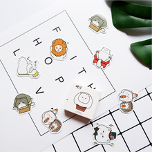 45 Pcs/box Cute Guru cat paper sticker DIY diary album decoration stickers scrapbooking planner label Scrapbook