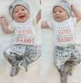 Ropa de la navidad Del Niño Recién Nacido de Los Bebés Niñas camiseta Larga Tops Pantalones de Cactus de Navidad Ropa Sombrero de Conjunto