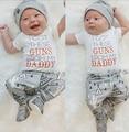 Roupa do natal Da Criança Recém-nascidos Do Bebê Das Meninas Dos Meninos T camisa Tops Longo Calças Xmas Chapéu Roupas Conjunto Cactus