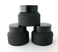 12 x 15g 30g 50g Frost Black Glass Cream Jar With Lids White Seal Insertion Container Cosmetic Packaging Pot