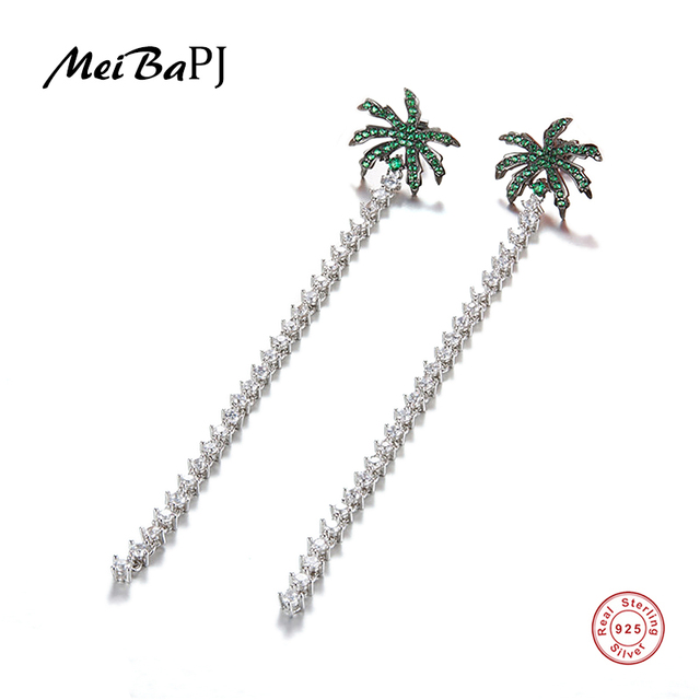 [MeiBaPJ]The big European and American S925 silver inlaid micro Star Earrings fashion personality temperament all-match