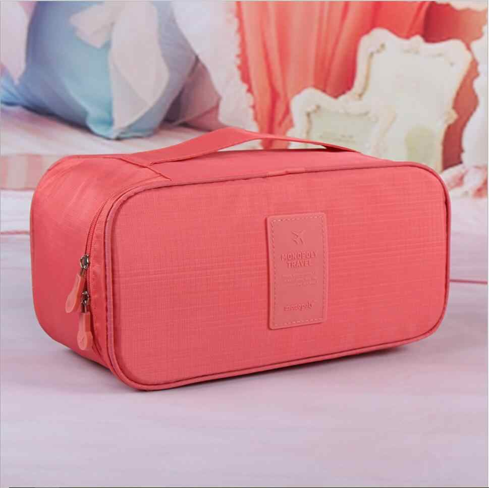 2018 Waterproof Cosmetic Bag Women Travel Storage Underwear Boxes Case for Wash Bras Toilet Make Up Bag Beauty Case Neceser