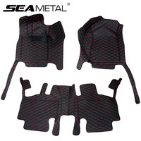 Car Floor Mats For LHD Jeep Grand Cherokee WK2 2018 2017 2016 2015 2014 2013 2012 Rugs Interior Leather Mat Pad Auto Accessories