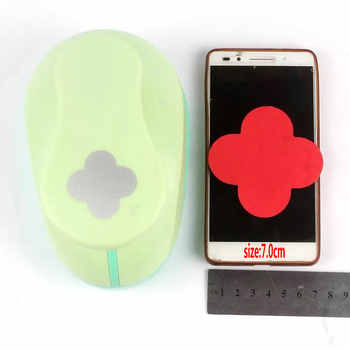 free shipping 3 inch (about 7.0m) petal design paper punch for scrapbooking eva foam punch crafting punch for greeting card