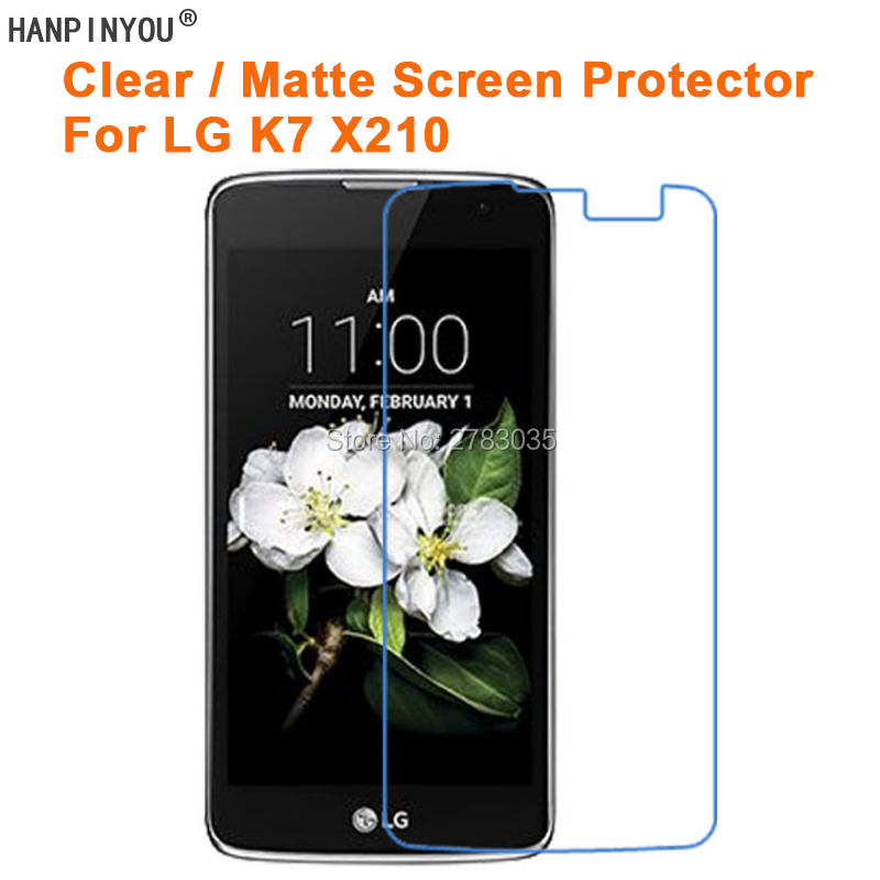 For LG K7 X210 X210DS 5.0 Inch Clear Glossy /Anti-Glare Matte Screen Protector Protective Film Guard (Not Tempered Glass)For LG K7 X210 X210DS 5.0 Inch Clear Glossy /Anti-Glare Matte Screen Protector Protective Film Guard (Not Tempered Glass)