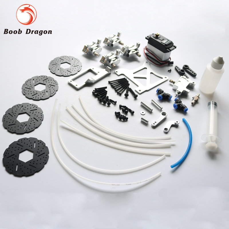 Baja 4 Wheel hydraulic brake kit for 1/5 HPI Baja 5b ss Rovan King Motor main pump combination for gtb 4 wheel hydraulic brake set fit for 1 5 rc car hpi baja 5b ss