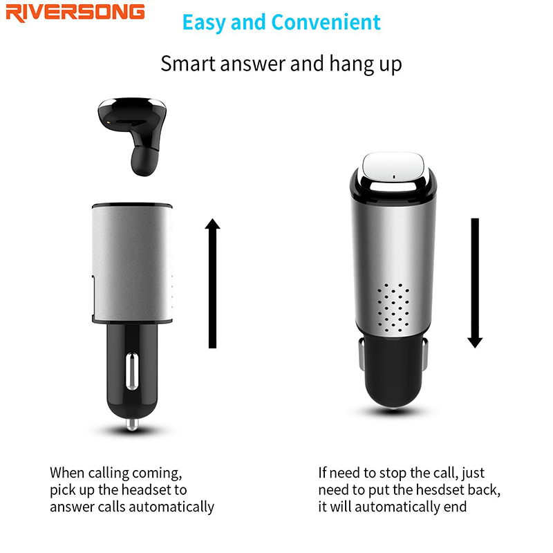 Wireless Earphone Bluetooth 4.1 Headset Safe Drive RIVERSONG Car Charger 3 in 1 with Microphone for Xiaomi cellphone and iphone original r6000 wireless headphone bluetooth headset for samsung xiaomi iphone 7 car charger 2 in 1 bluetooth earphone