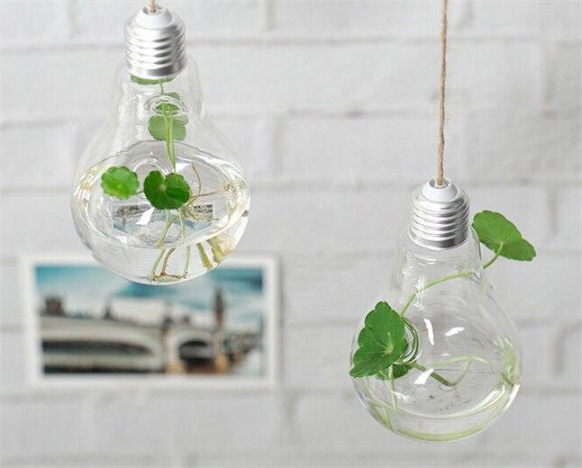 Evropská kreativní žárovka ve tvaru zavěšené vázy skleněná váza hydroponické domácí svatební módní ozdoby ozdoby váza