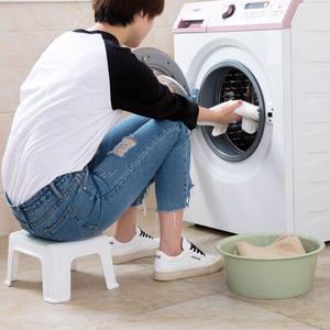 Image 5 - 3 色 4 脚キッズ厚みプラスチック小さなスツールリビングルーム大人変更靴ベンチ浴室の子低ベンチ赤ちゃん学習スツール