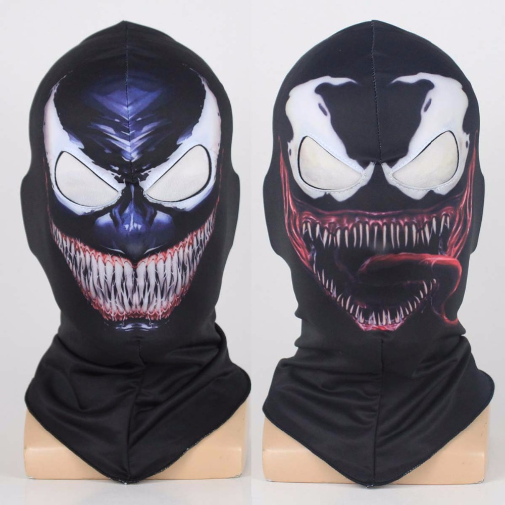 Venom Spiderman máscara Cosplay negro SpiderMan Edward Brock Dark Superhero Venom mascarillas casco Halloween fiesta utilería DropShipping