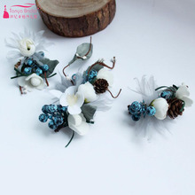 TANYA BRIDAL Blue Charming Hairpin Headwear Pine cones