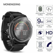 2Pcs 9H Tempered Glass For Garmin Fenix 3 HR Screen Protector For Garmin Fenix 5 5X Plus Protective Glass Film Cover Watch Face round tempered glass protective film for samsung galaxy huawei garmin huami lg fossil suunto smart watch screen protector cover
