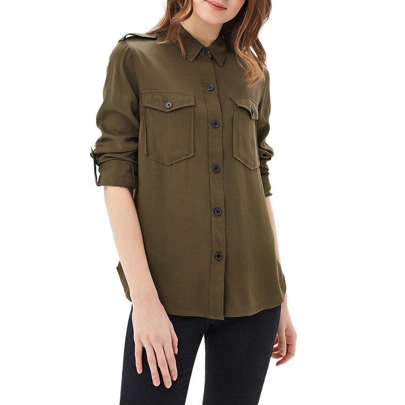 Blouses & Shirts MODIS M181W00284 woman blouse shirt blusas for female TmallFS