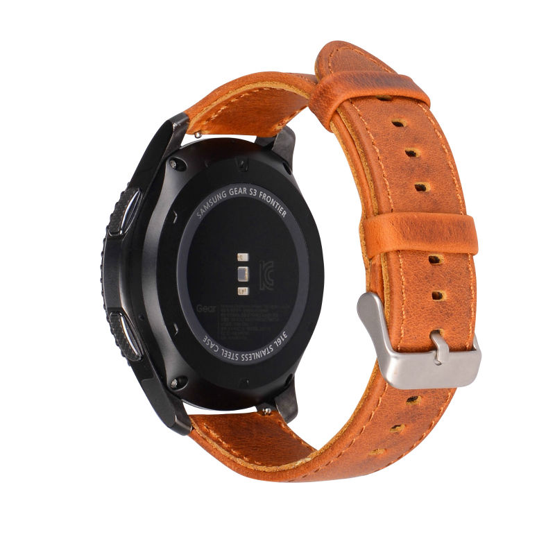 Echtes Lederband für Samsung Gear S3 Smart Watch Band Ersatzuhr - Uhrenzubehör - Foto 2